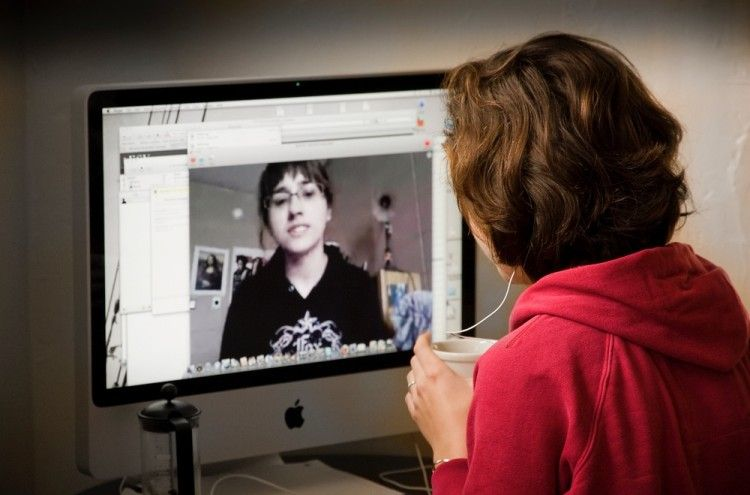 Img videoconferencia videochat online art