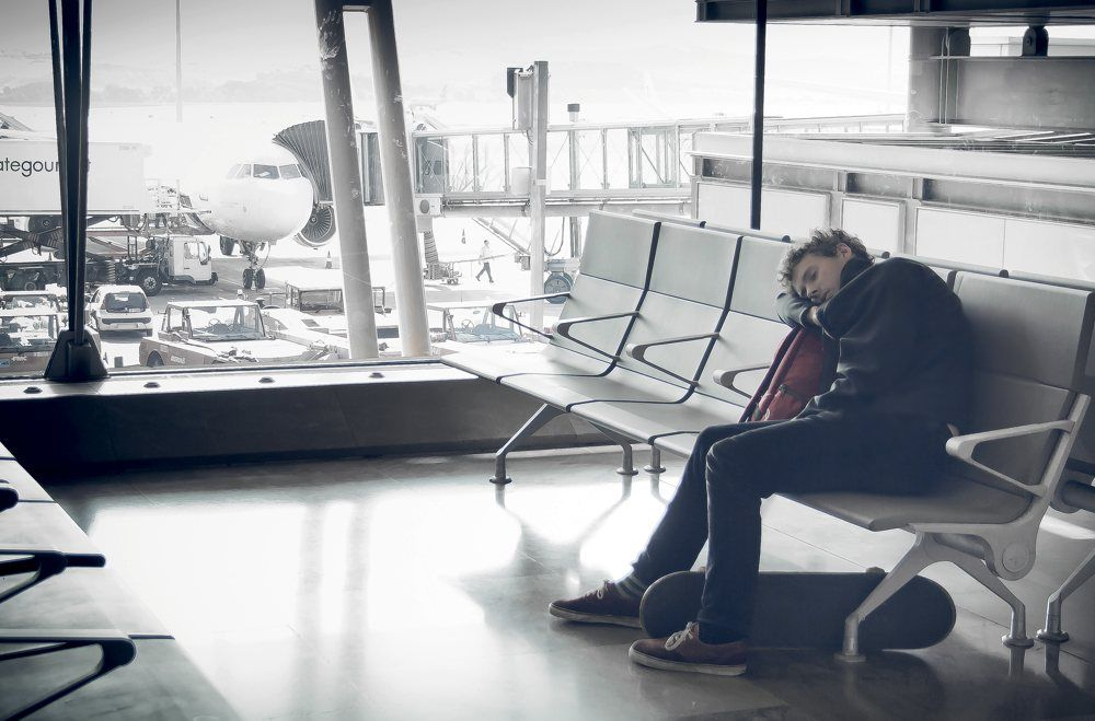 Img vuelo retrasado perdido aeropuerto