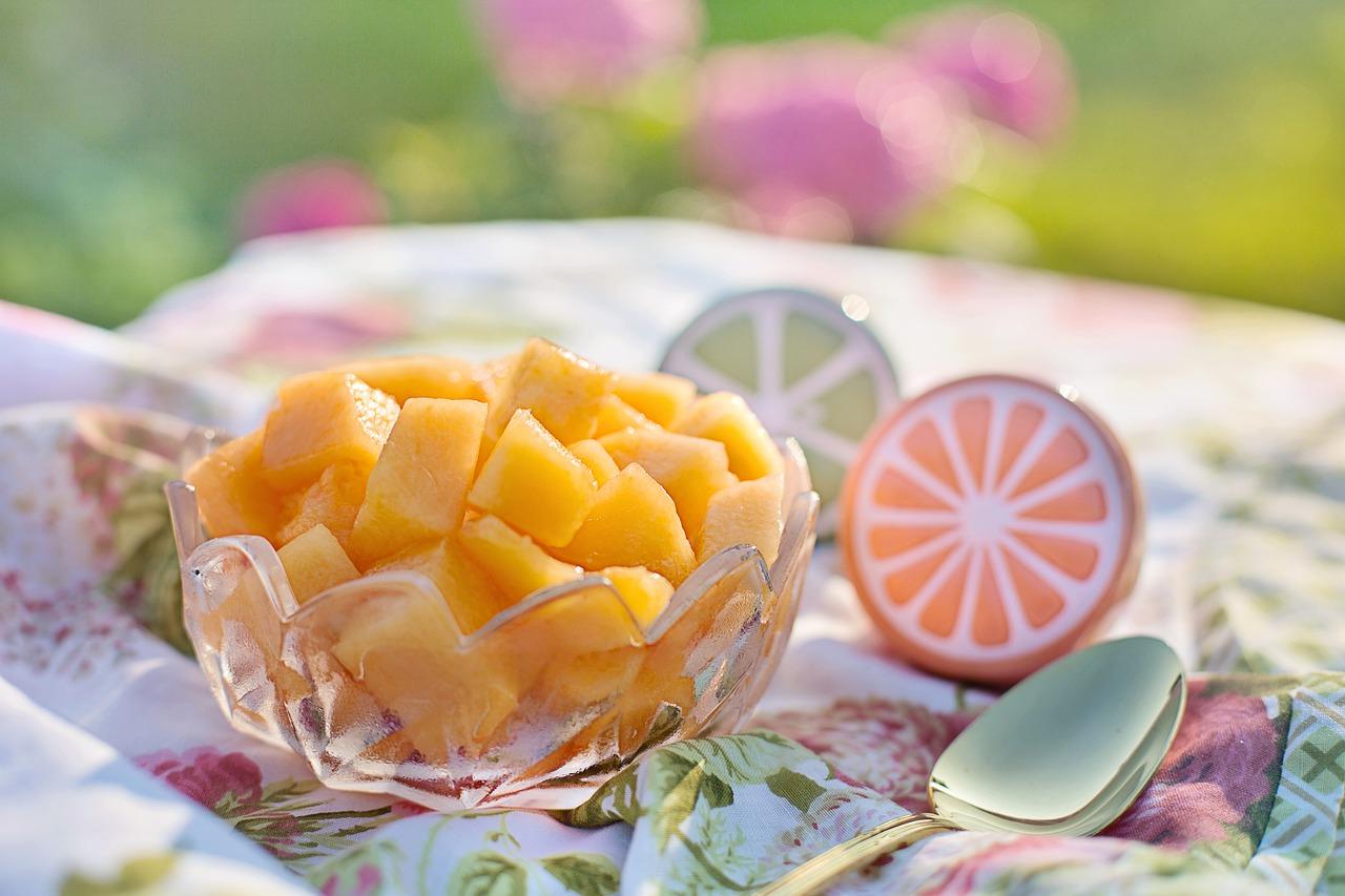 Melon fruta postre