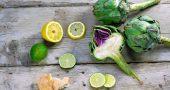 alcachofas limon pan