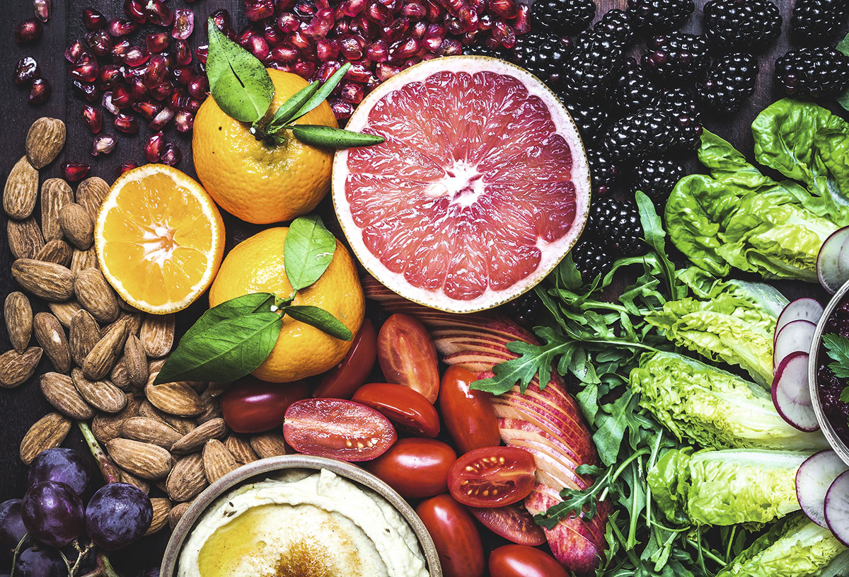 alimentos frutas frutos secos