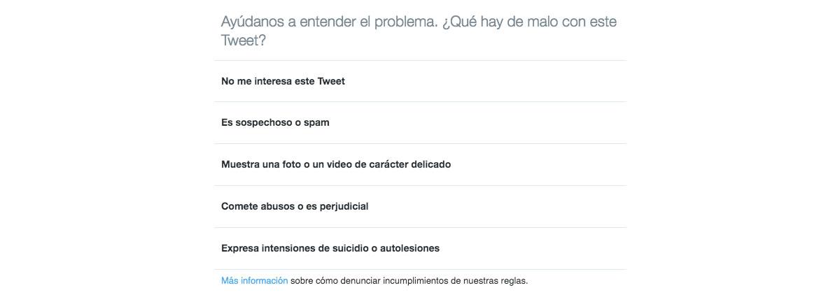 Denuncia tuit