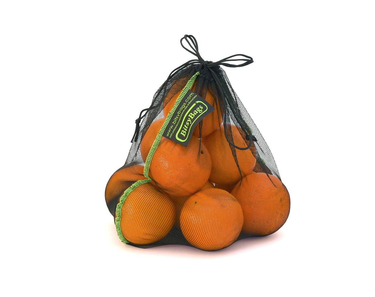 Malla bolsa naranja