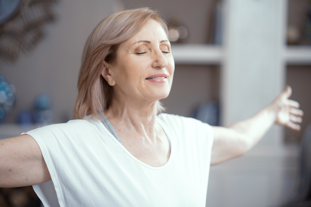 Woman doing yoga meditation