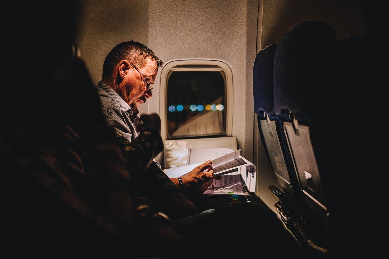 Viaje avion trabajo