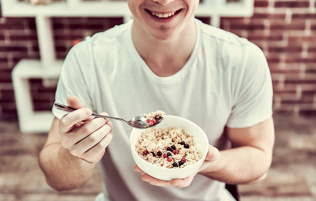 Cereales fruta fibra