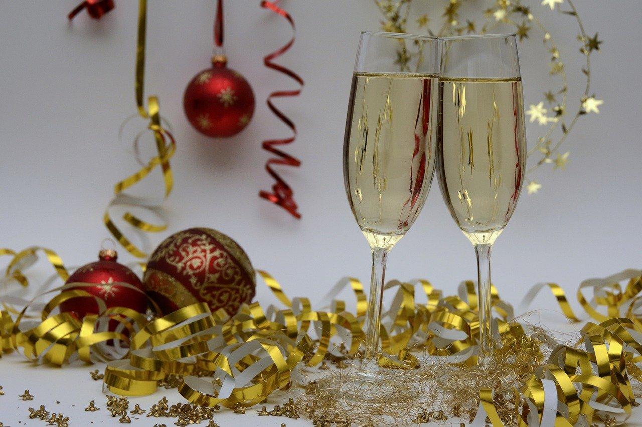 Champan brindis navidad