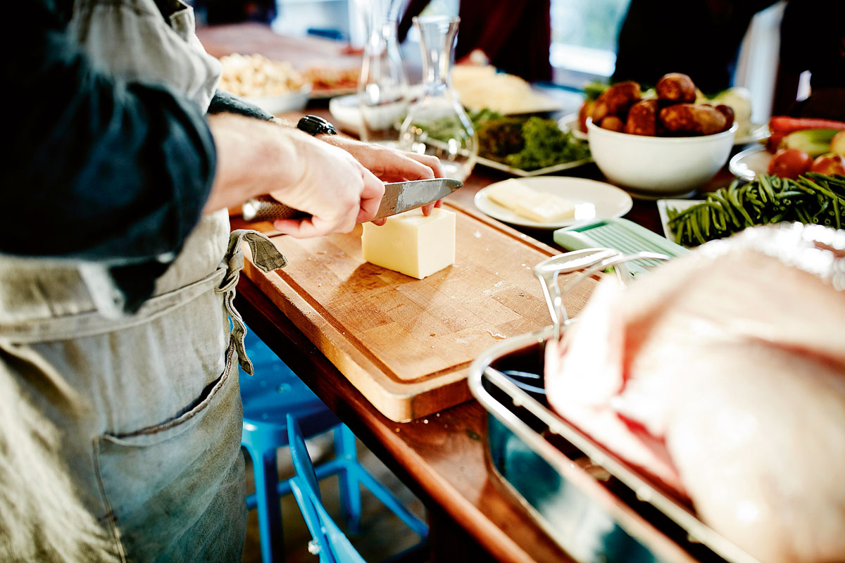 Cocinar tabla cuchillo