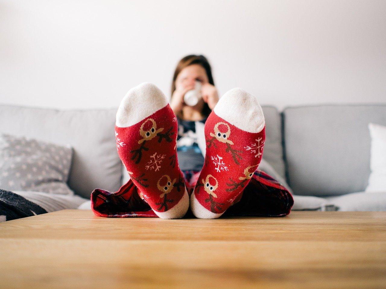 Navidad vacaciones calcetines