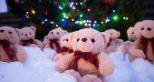 Oso peluche navidad