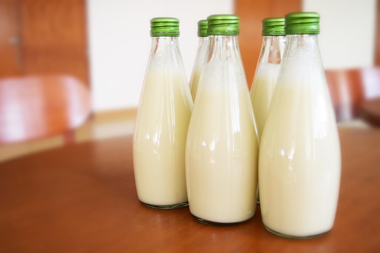 leche botellas cristal