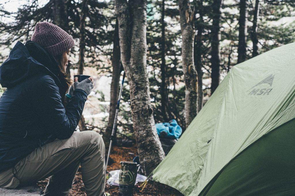 De camping en invierno