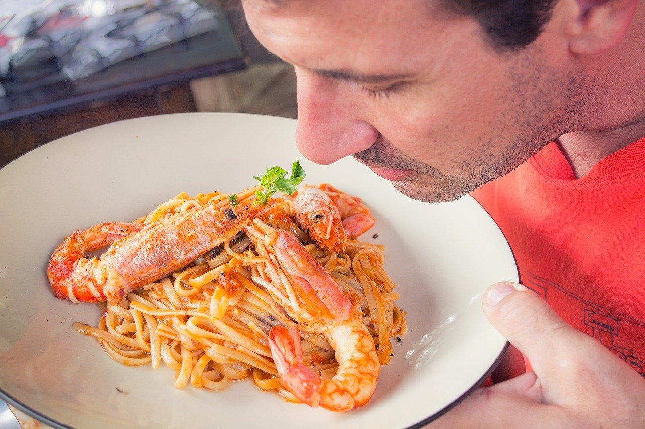 aroma pasta marisco comer