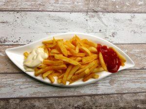 patatas fritas acrimina salsas ketchup mayonesa