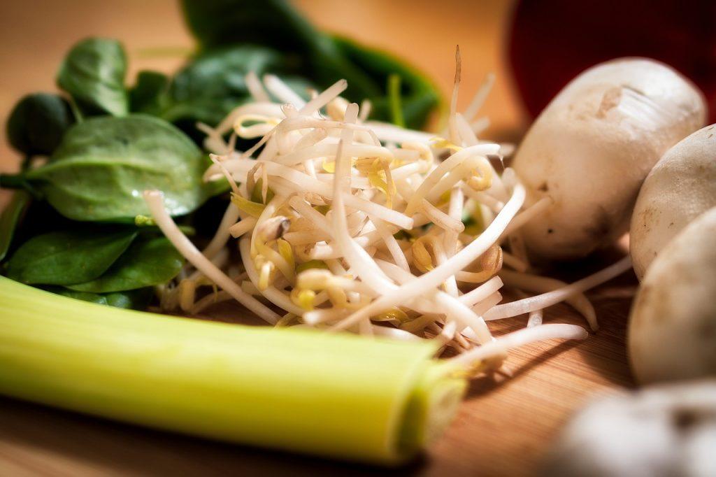 Espinaca patatas y soja con antinutrientes