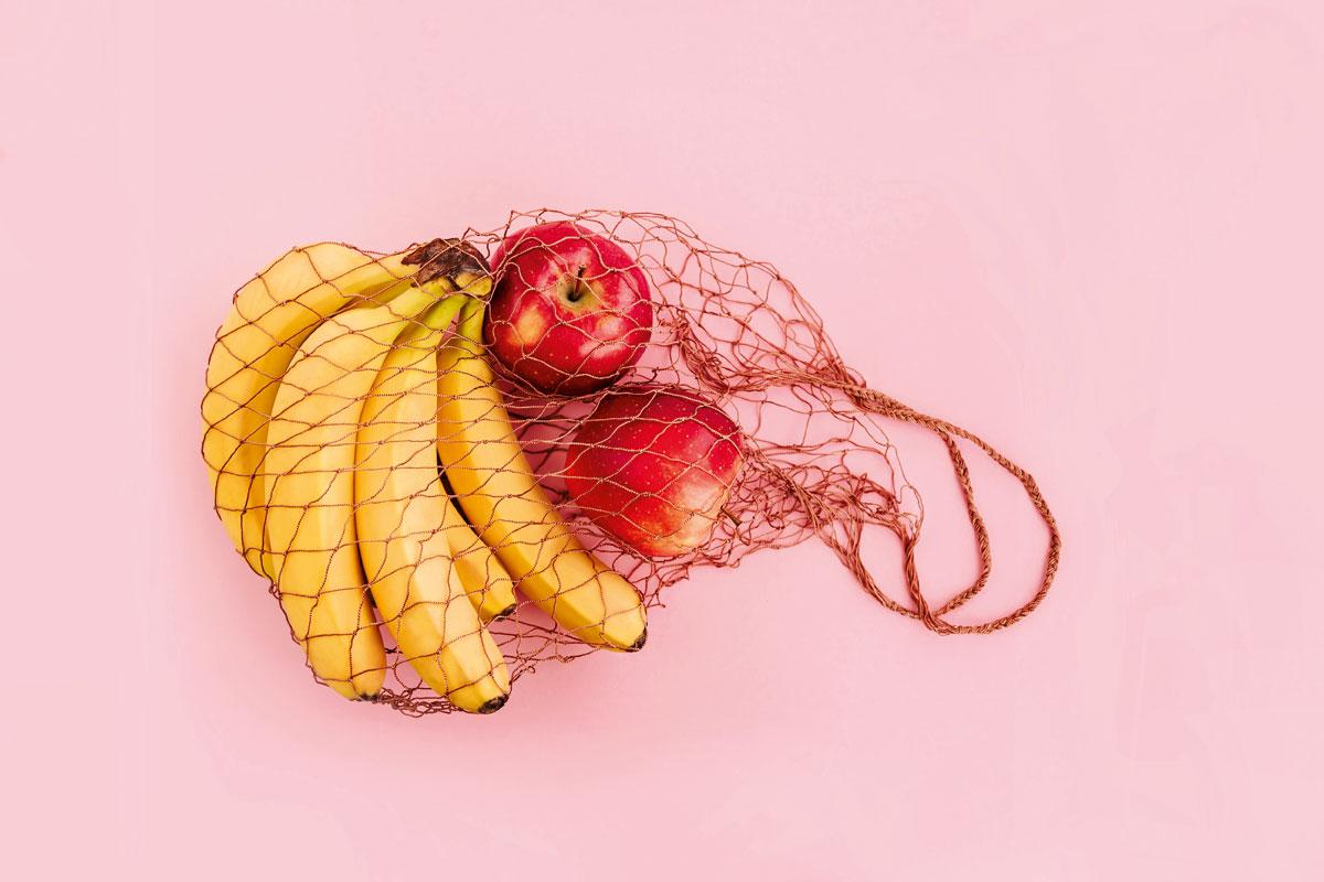 bolsa compra reutilizable red fruta