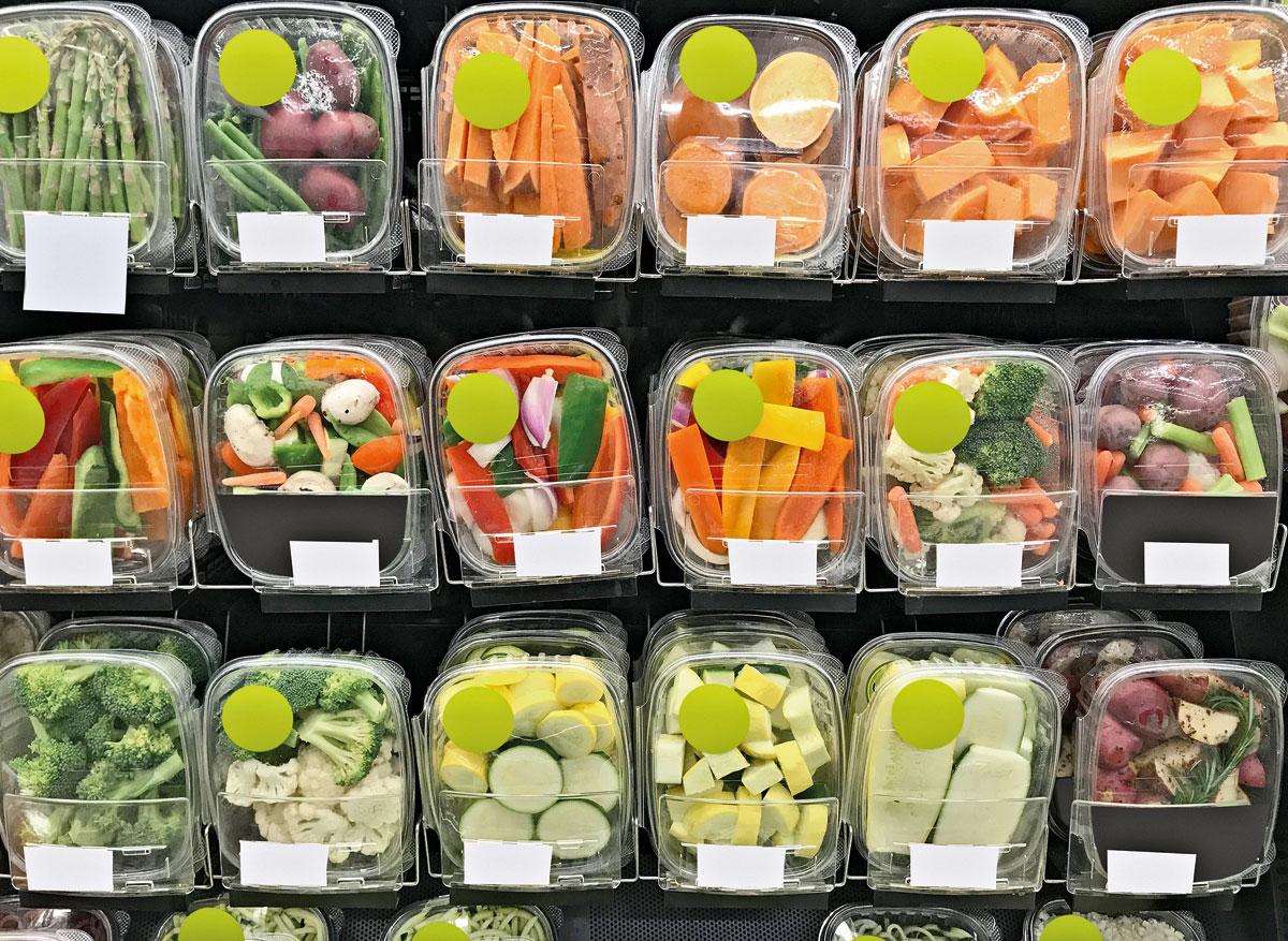 envases plasticos desechables verduras