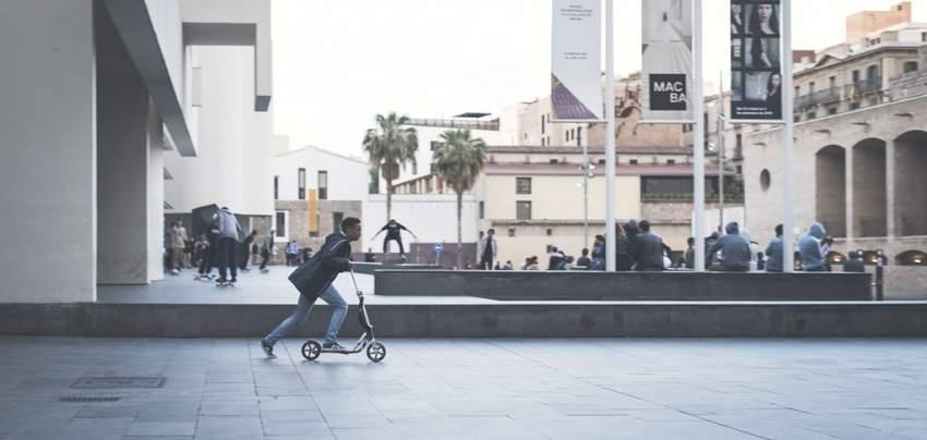 circular correctamente con patinete