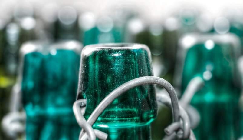 botella para reciclar
