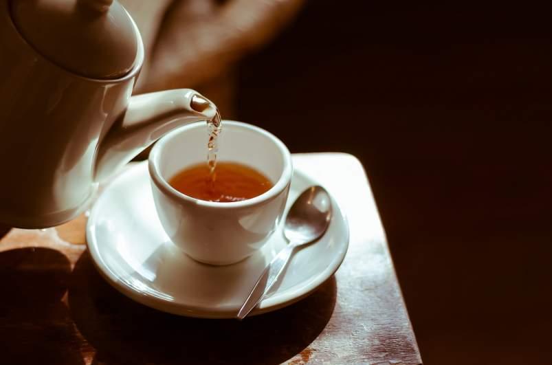 Cafeína en el té