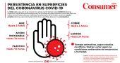 supervivencia coronavirus superficies