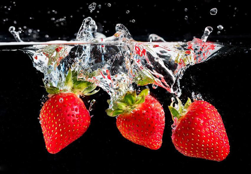 lavar fresas
