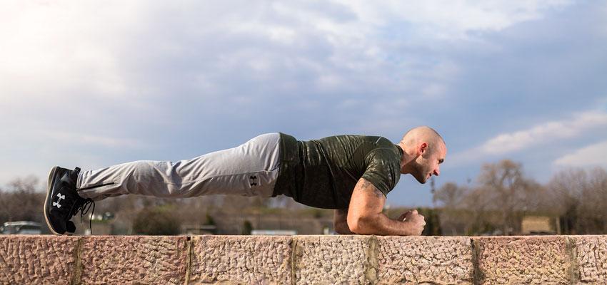 plancha ejercicio musculos espalda