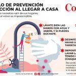 Covid-19: medidas preventivas al llegar a casa