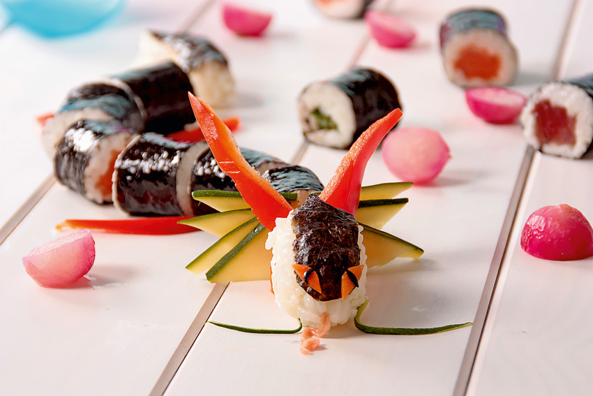receta sushi dragon