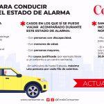 Normas para conducir durante el estado de alarma
