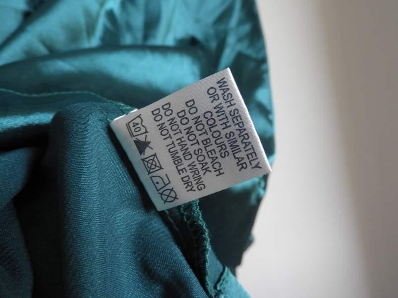 etiqueta de prenda