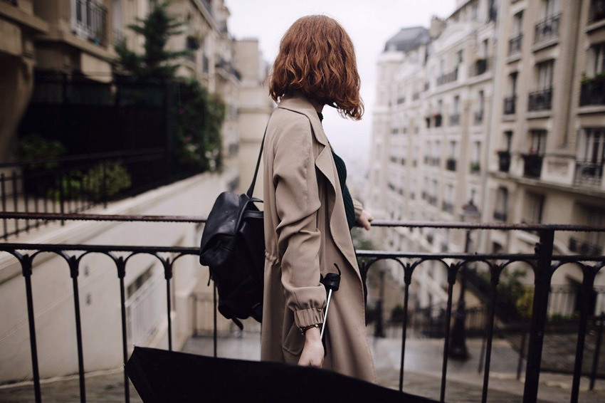 mujer ciudad