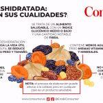 Frutas deshidratadas: cómo cambian sus propiedades