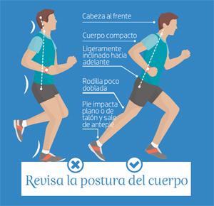 postura correcta correr