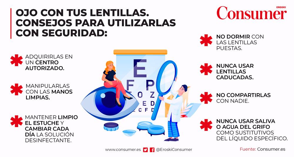 Consejos para usar tus lentillas con seguridad