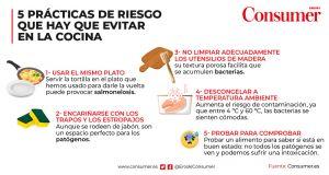 Prácticas de risco a evitar na cociña