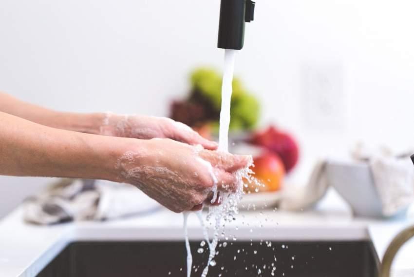 lavado manos cocina
