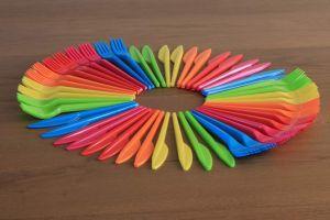 tenedor cuchara plastico