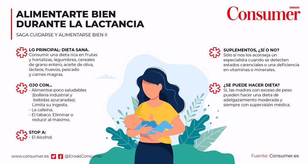dieta madre lactante