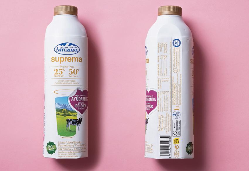 etiquetado leche