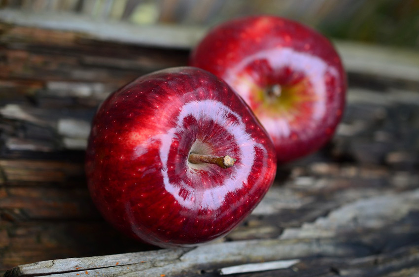 manzanas con cera