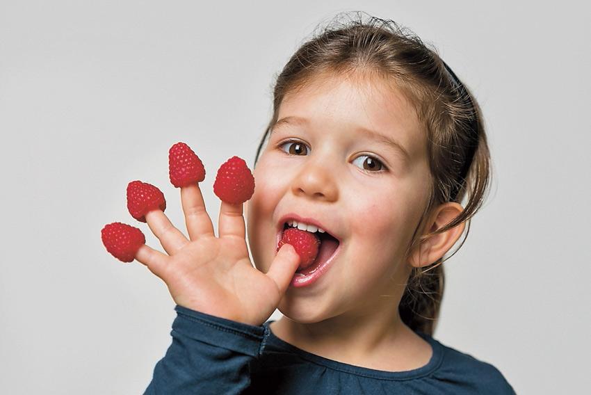 comida saludable nina