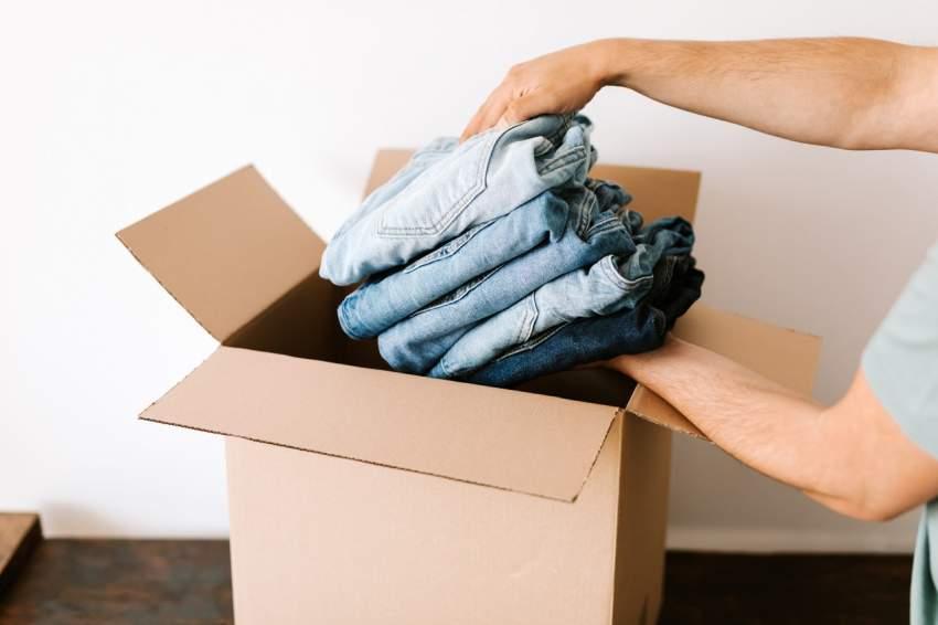 guardar ropa caja