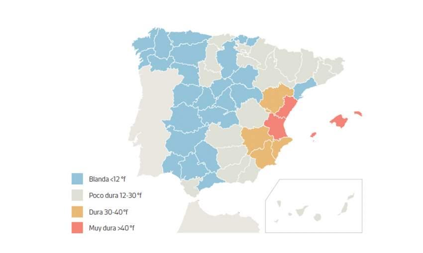 agua mapa espana