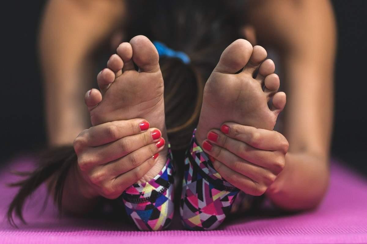pies estiramientos