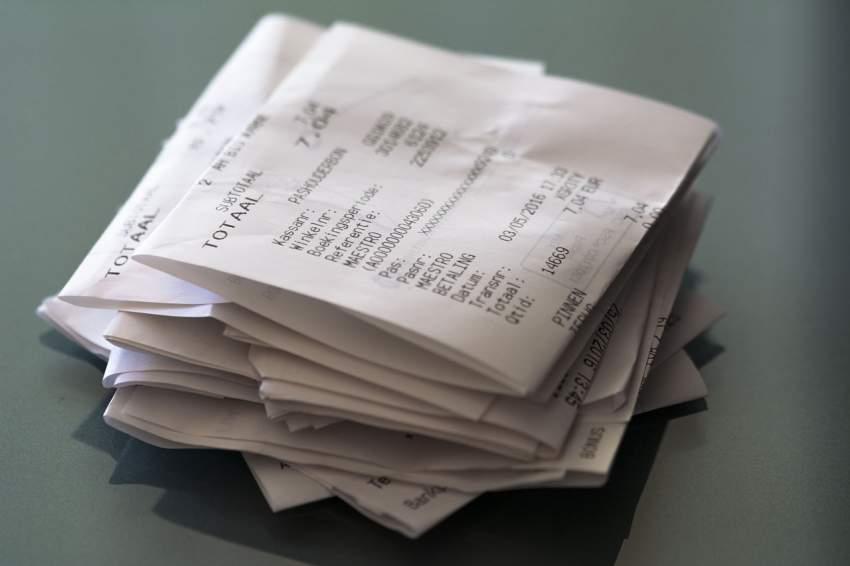recibos y reducir gastos
