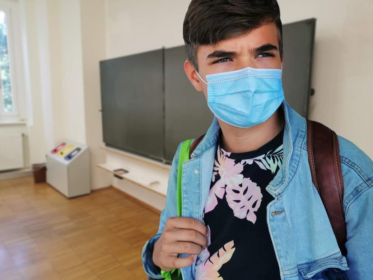 mascarilla coronavirus colegio