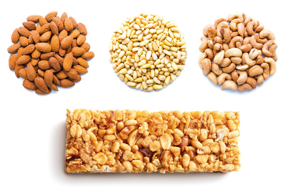 barritas energeticas vs frutos secos
