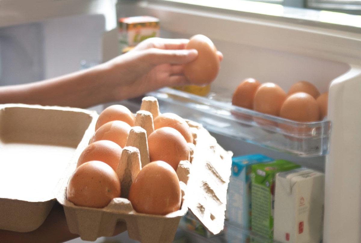 por que no guardar huevos puerta nevera