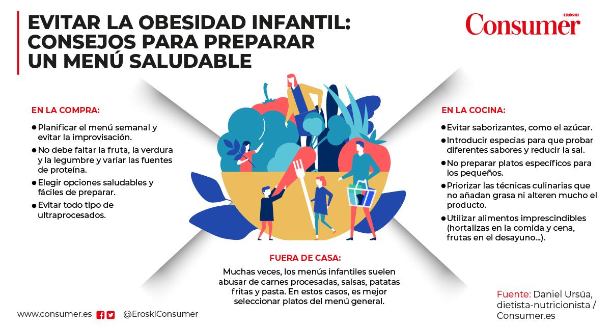 menu infantil saludable